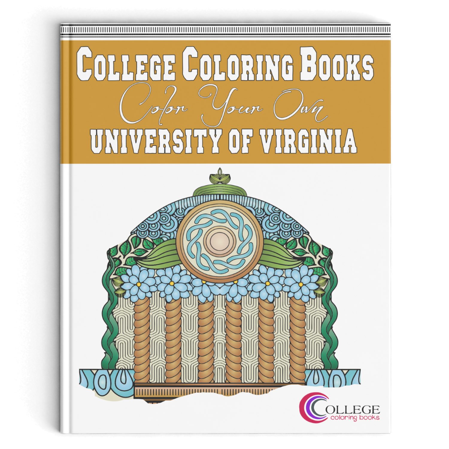 Book Cover For College : College coloring books color your own university of virginia