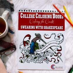 College Coloring Books Swearing with Shakespeare Swear Word Coloring Book