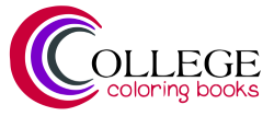 College Coloring Books Sticky Logo