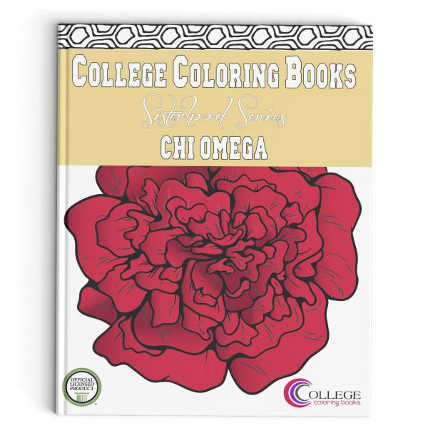 College Coloring Books Chi Omega Book Cover
