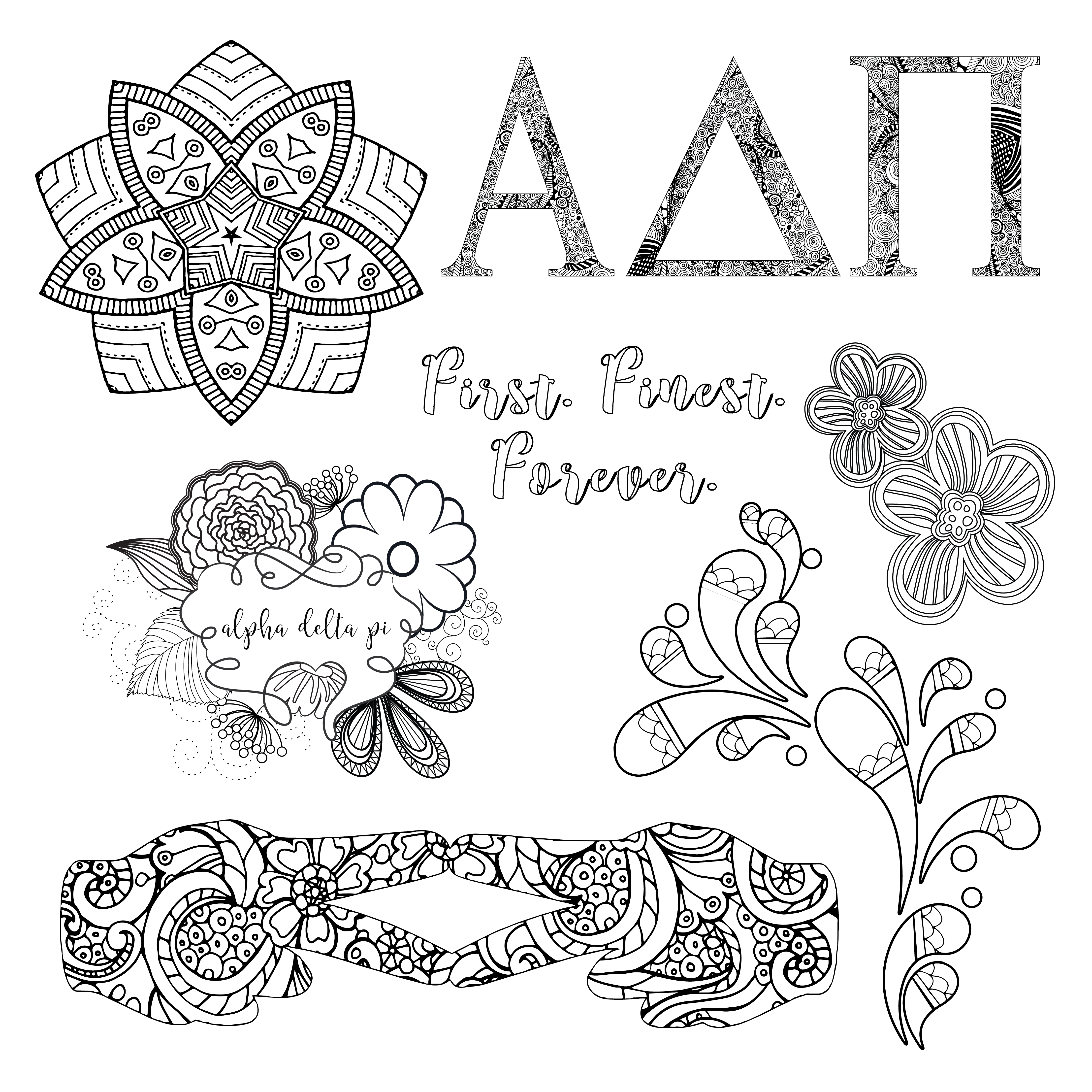 ADPi Coloring Book Preview