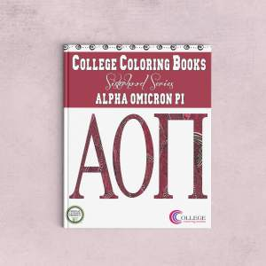 College Coloring Books Alpha Omicron Pi Coloring Book