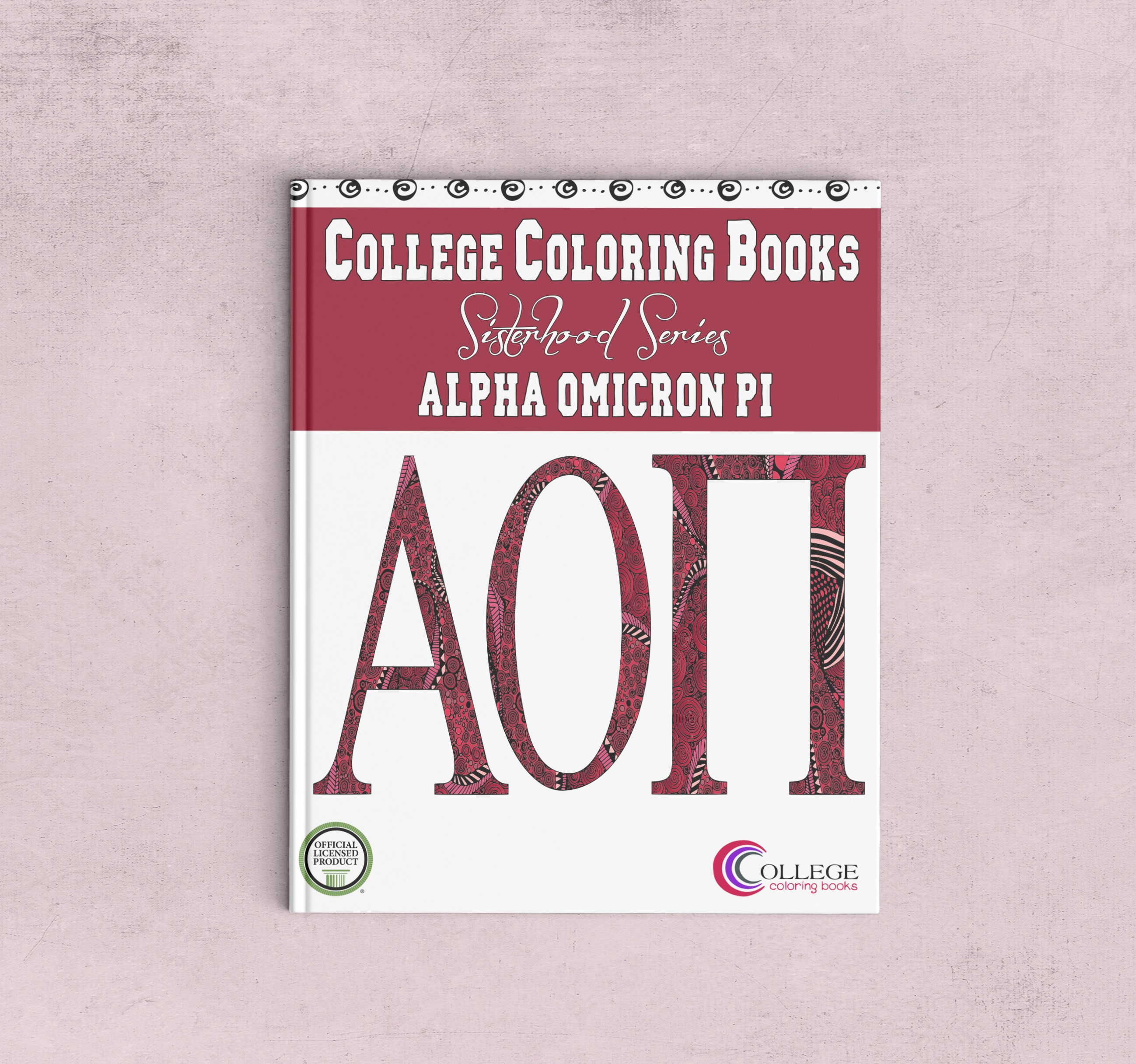 College Cookbook Cover : Alpha omicron pi adult coloring book college books