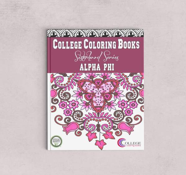 College Coloring Books Alpha Phi Coloring Book
