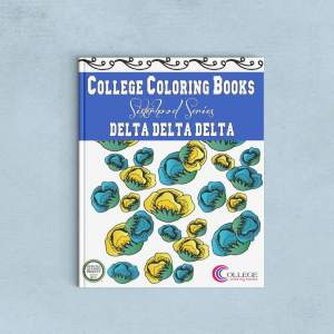 College Coloring Books Delta Delta Delta Coloring Book Cover - Front
