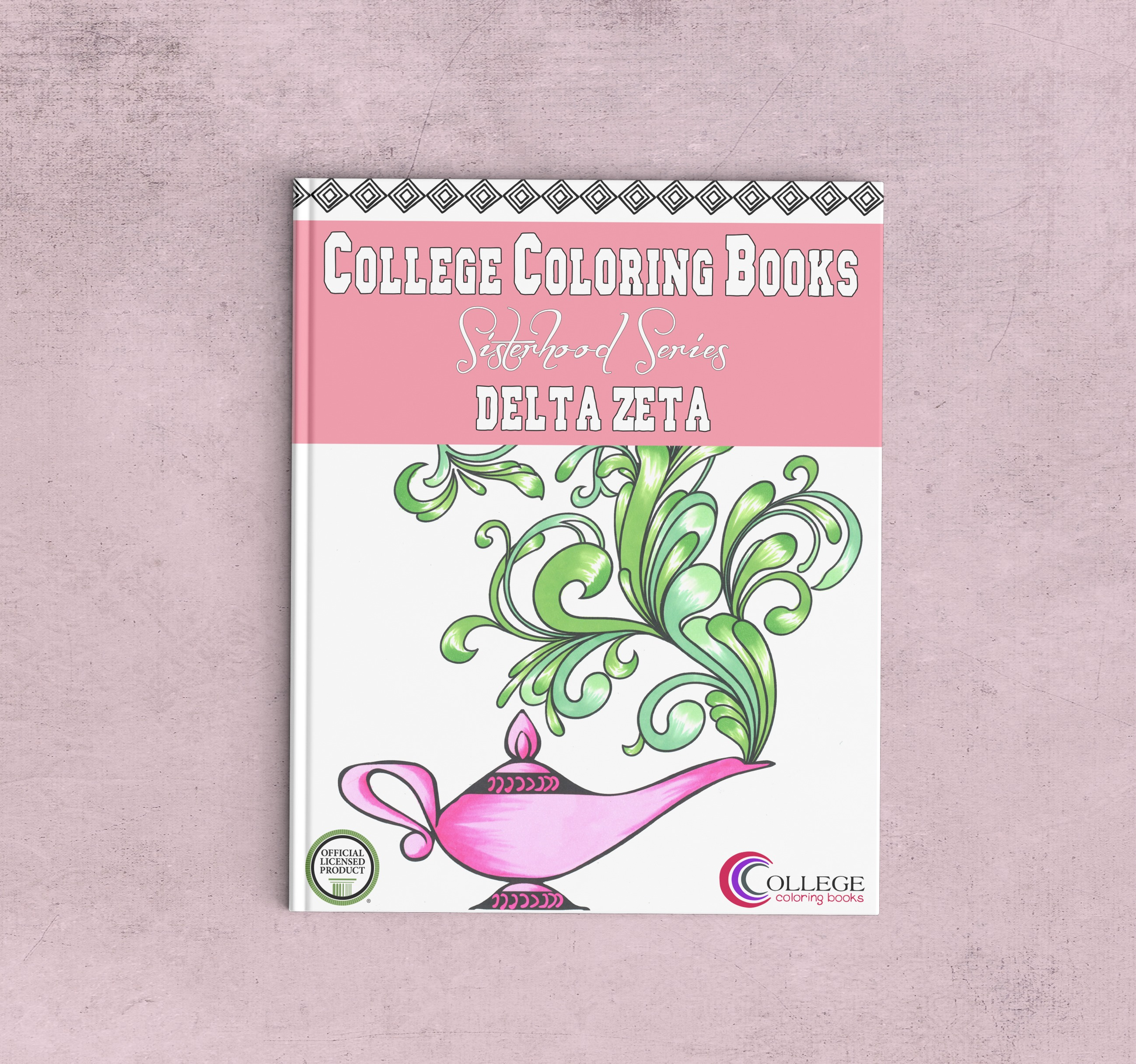 College Coloring Books Delta Zeta Coloring Book Cover - Front