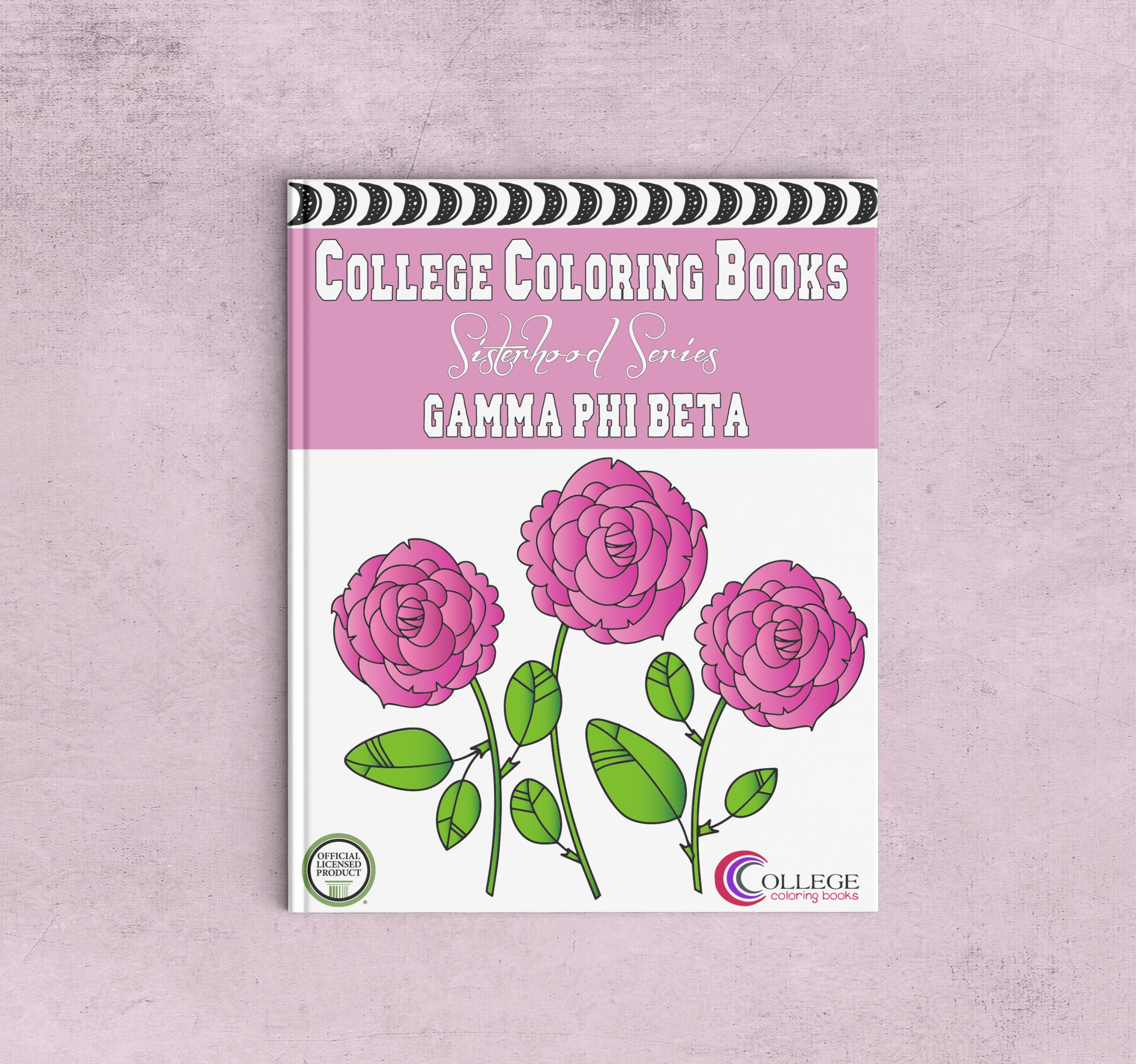College Coloring Books Gamma Phi Beta Coloring Book Cover - Front