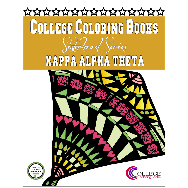 Kappa Alpha Theta Adult Coloring Book - College Coloring Books