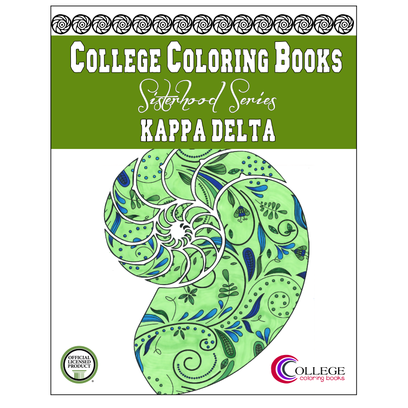 Kappa Delta Adult Coloring Book - College Coloring Books