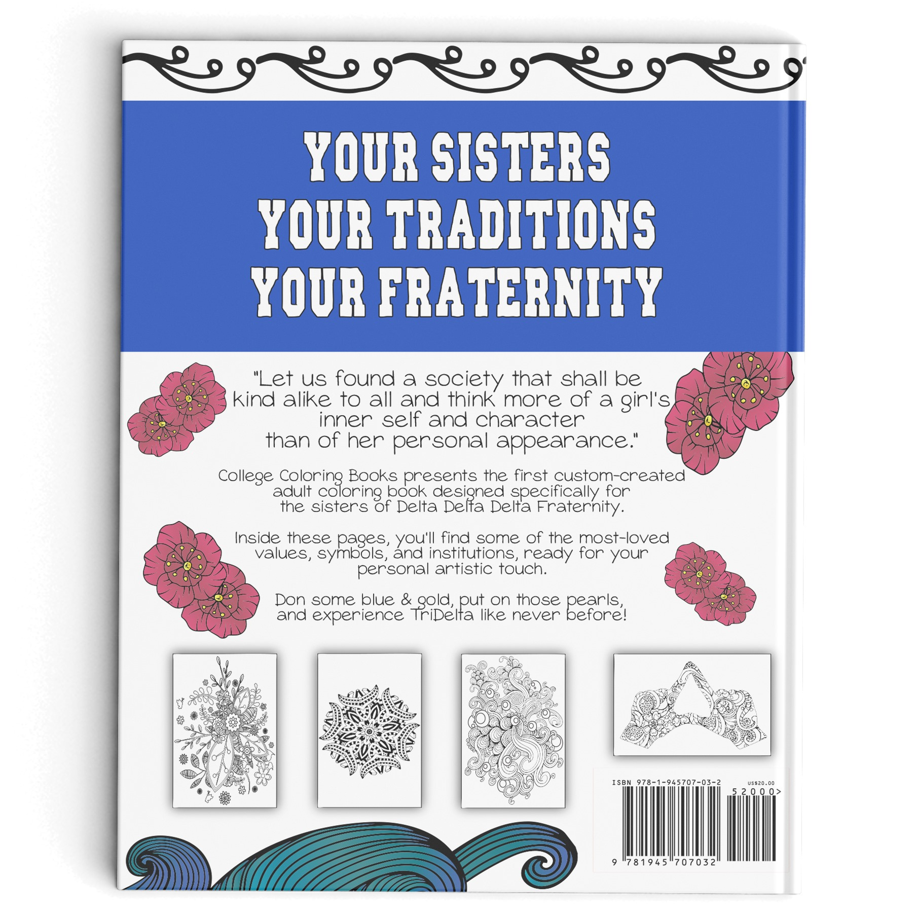 College Coloring Books TriDelta Back Cover