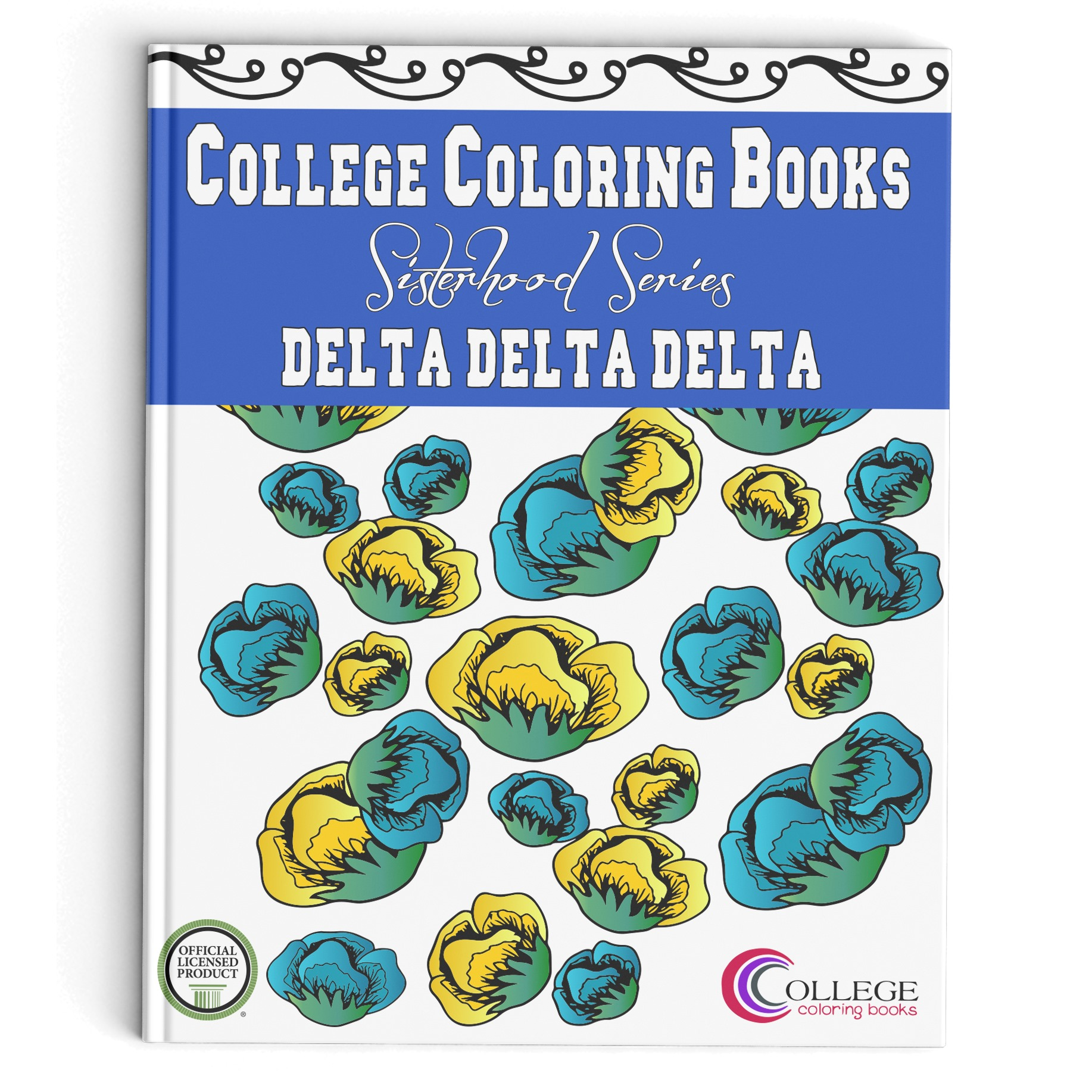 College Coloring Books TriDelta Book Cover