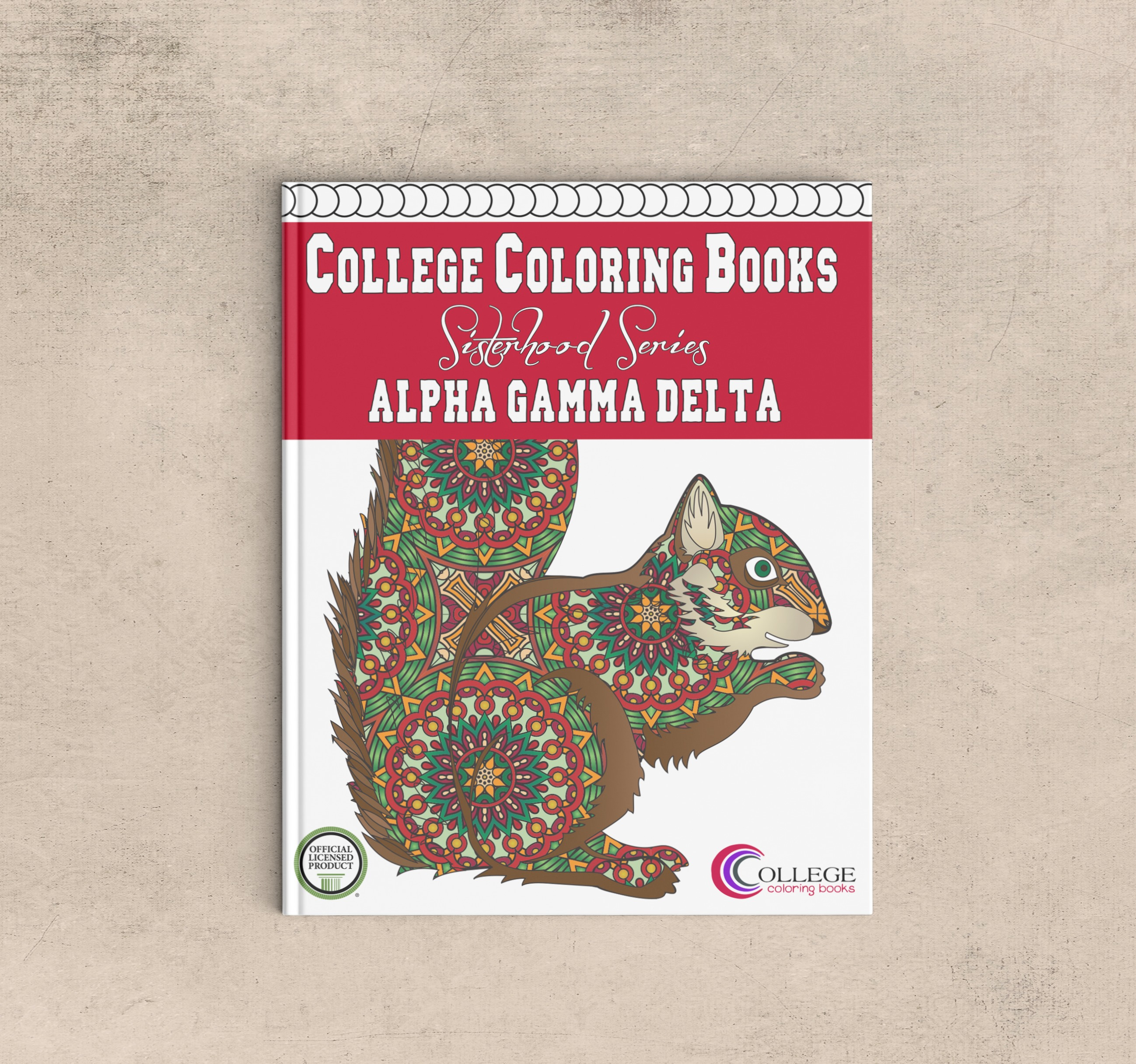 College Coloring Books Alpha Gamma Delta Coloring Book
