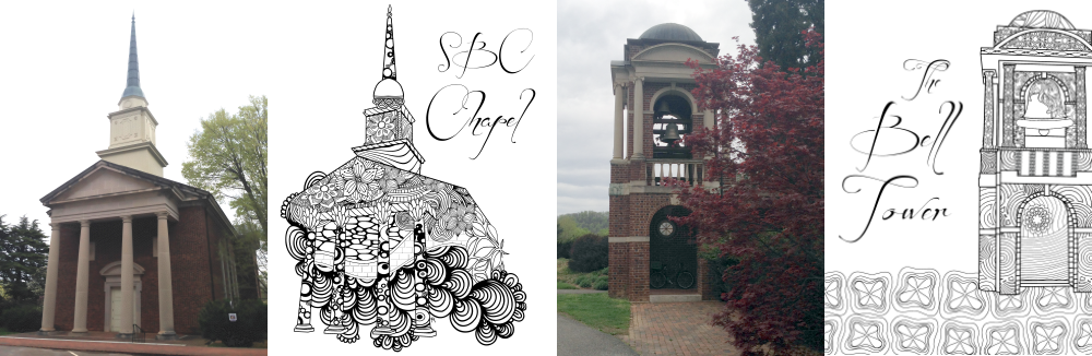 Photos and Illustrations of the Sweet Briar College Chapel and Bell Tower