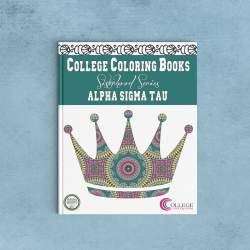 College Coloring Books Alpha Sigma Tau Coloring Book Cover - Front