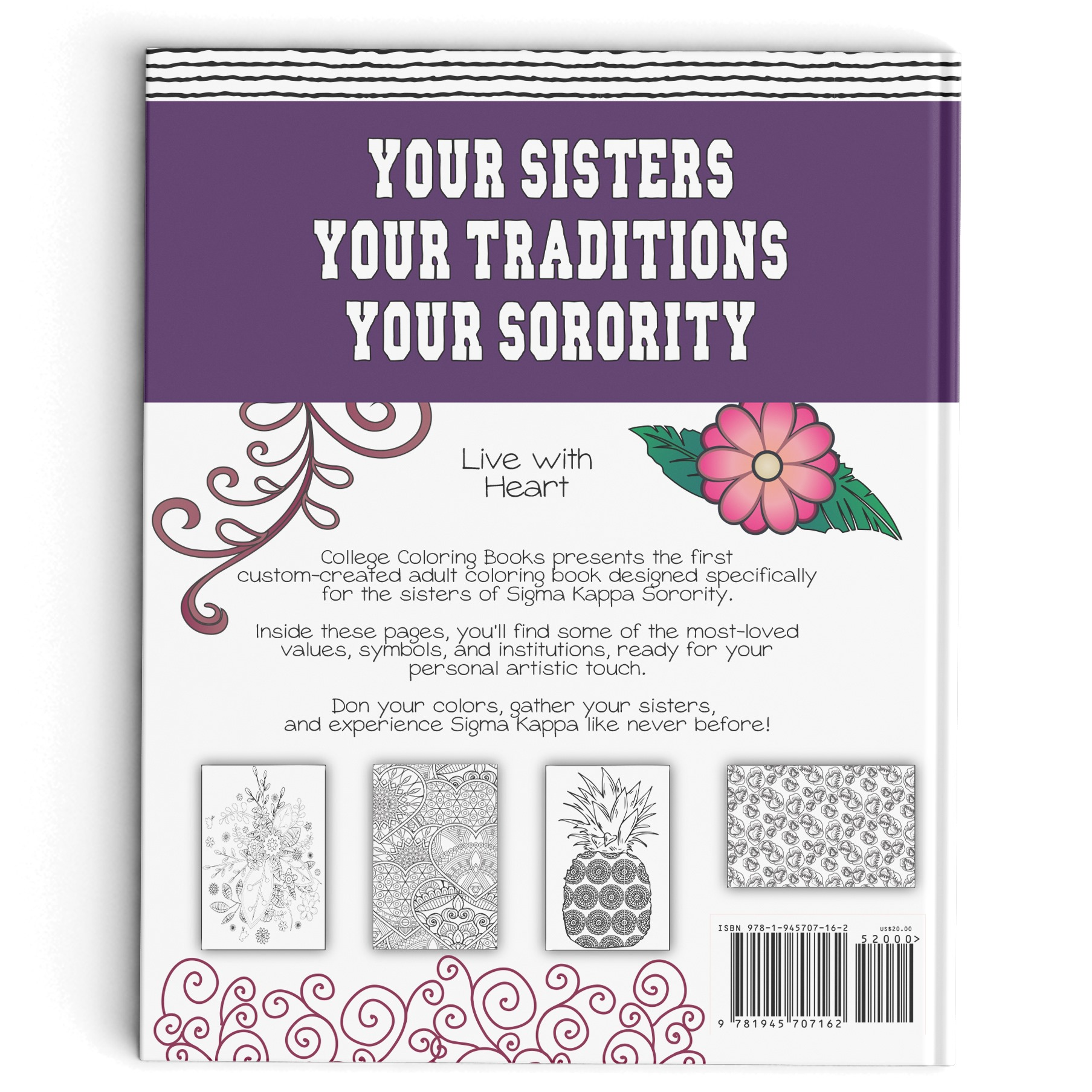 Sigma Kappa Adult Coloring Book College Coloring Books