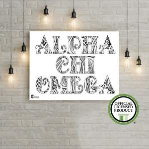 College Coloring Books Alpha Chi Omega Coloring Poster Greek Licensed