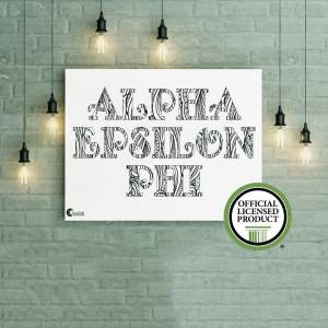 College Coloring Books Alpha Epsilon Phi Poster Greek Licensed