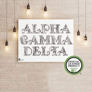 College Coloring Books Alpha Gamma Delta Coloring Poster Greek Licensed
