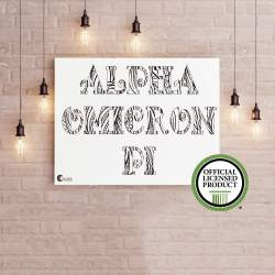 College Coloring Books Alpha Omicron Pi Coloring Poster Greek Licensed