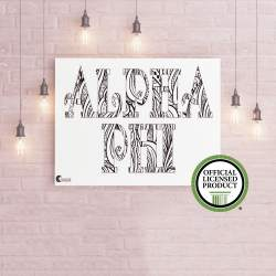 College Coloring Books Alpha Phi Coloring Poster