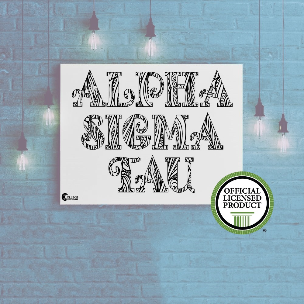 College Coloring Books Alpha Sigma Tau Coloring Poster Greek Licensed