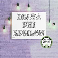 College Coloring Books Delta Phi Epsilon Coloring Poster Greek Licensed
