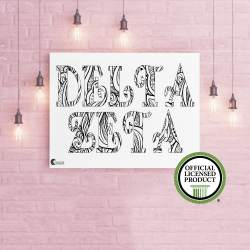 College Coloring Books Delta Zeta Coloring Poster Greek Licensed