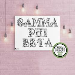 College Coloring Books Gamma Phi Beta Coloring Poster Greek Licensed