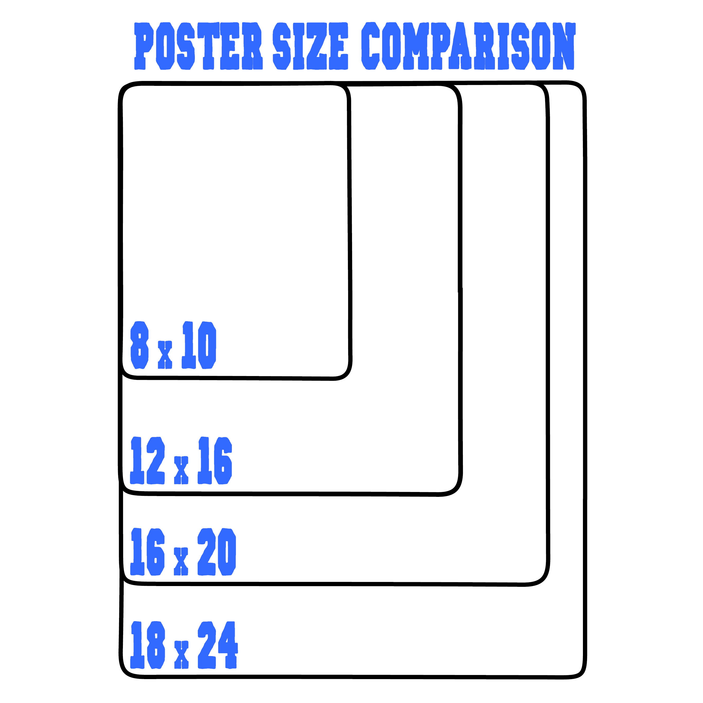 College Coloring Books Poster Size Comparison