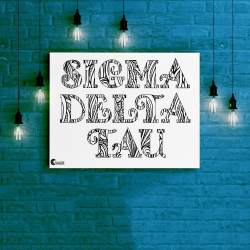 Sigma Delta Tau Tangled Name Coloring Poster