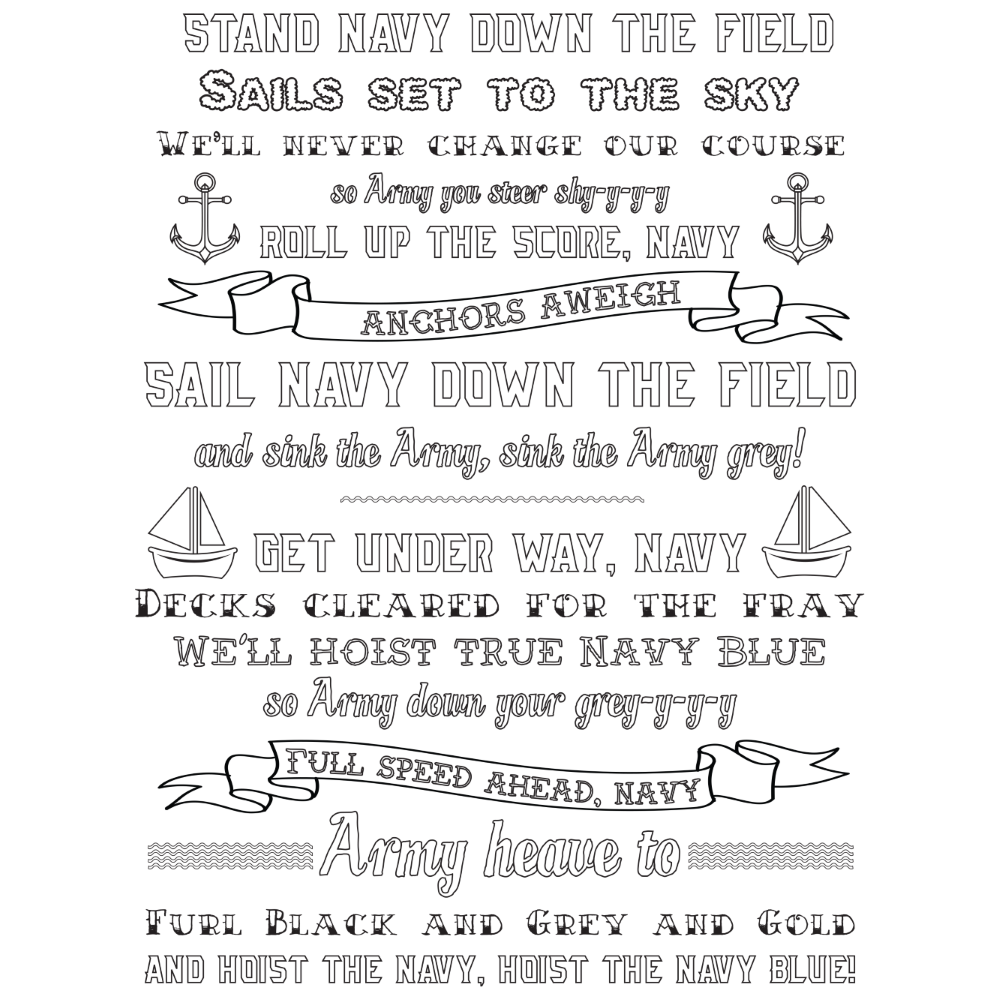 Anchors Aweigh Naval Academy Coloring Book
