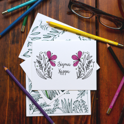 College Coloring Books Sigma Kappa Coloring Notecards