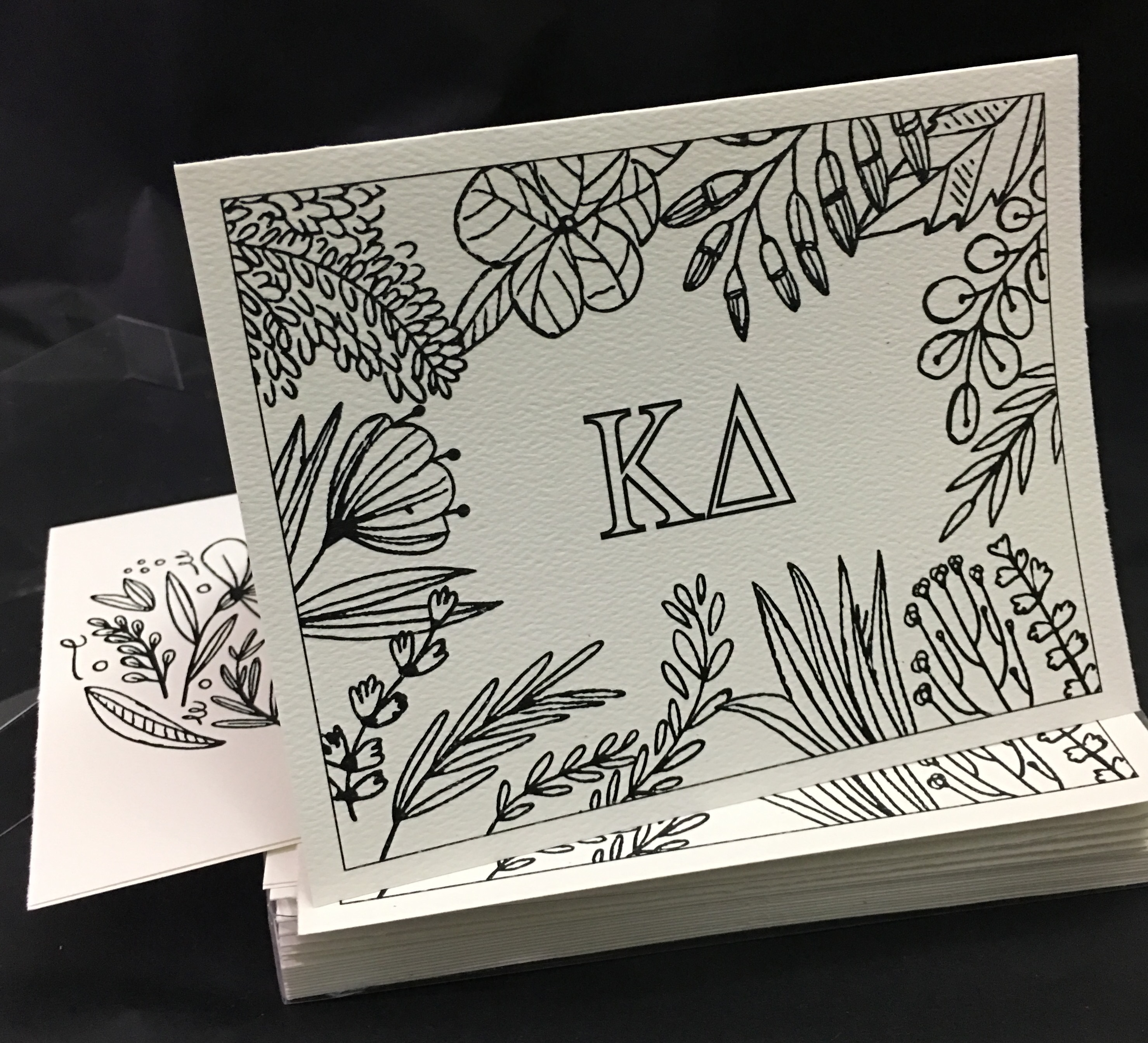 Set of 12 Kappa Delta Coloring Notecards