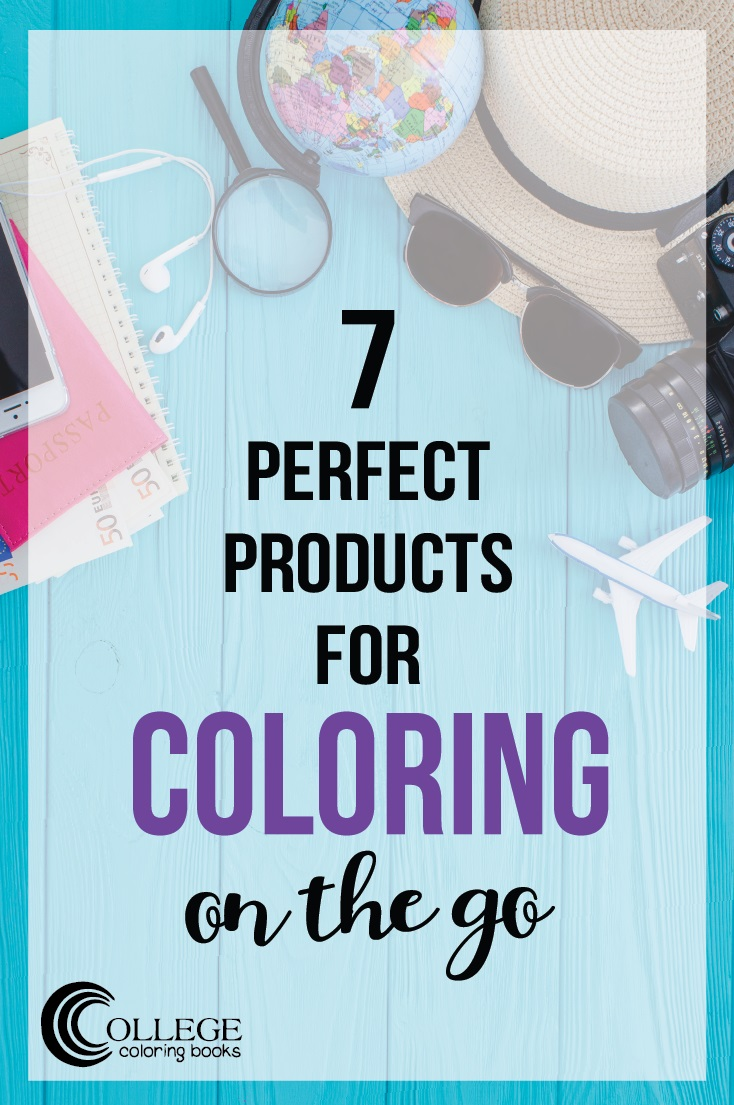 College Coloring Books 7 Perfect Products for Coloring on the Go Pinterest