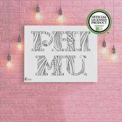 College Coloring Books Phi Mu Coloring Poster Greek Licensed