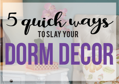 Five Quick Ways to Slay Your Room Decor