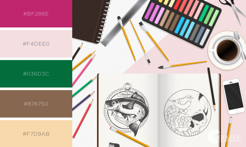 College Coloring Books Talks Back Sketches