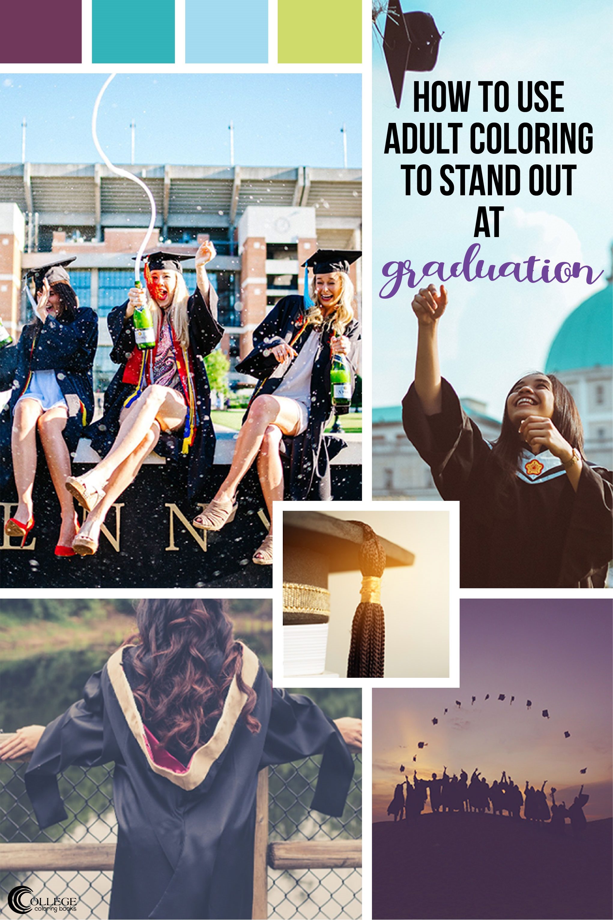 College Coloring Books: How to Use Coloring to Stand Out at Graduation