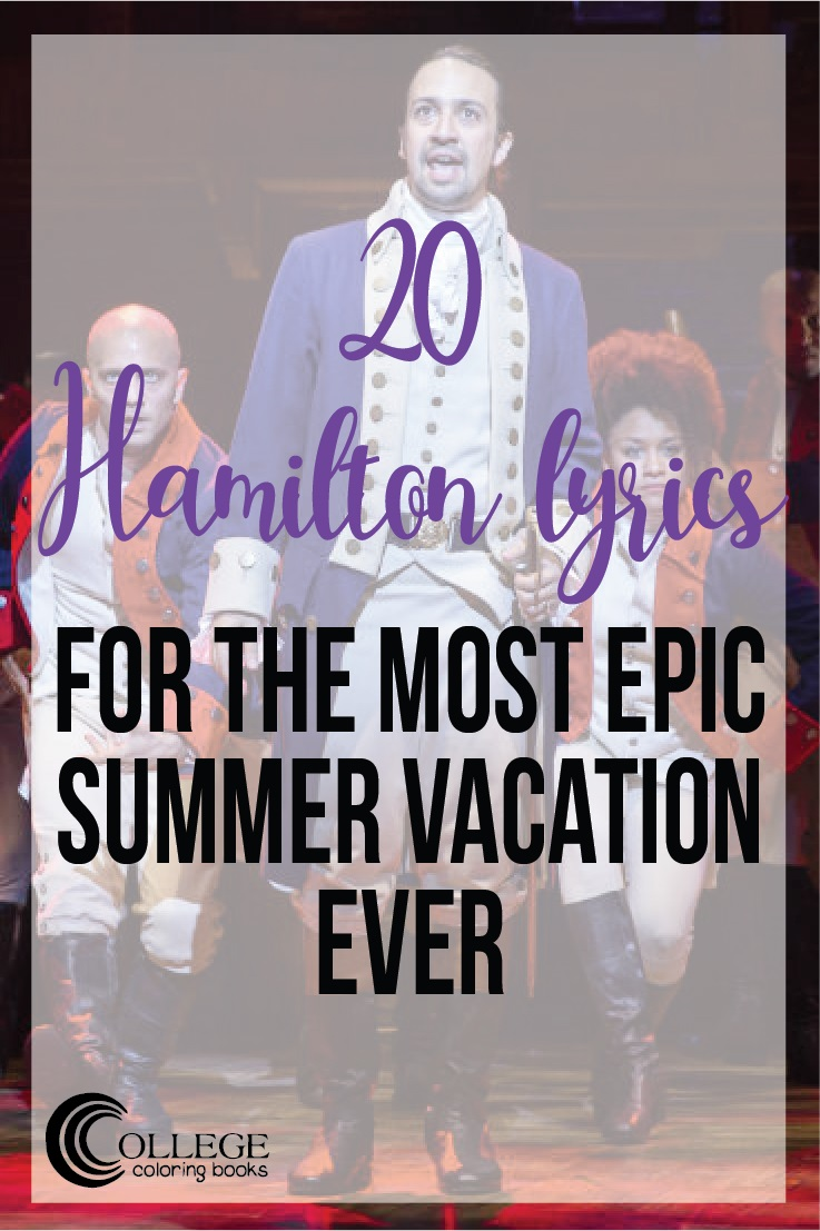College Coloring Books Hamilton Summer Vacation Pinterest