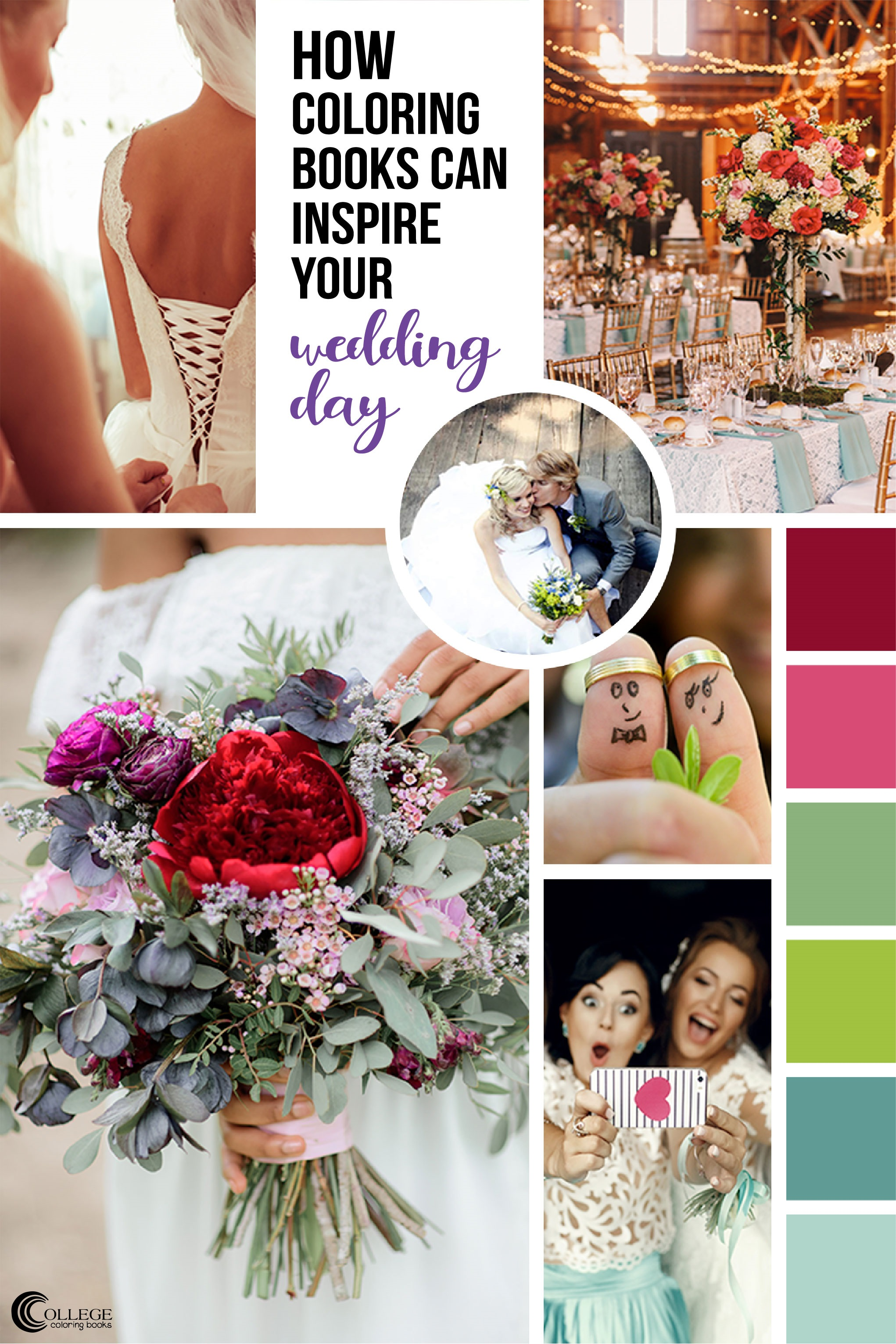College Coloring Books Weddings and Adult Coloring