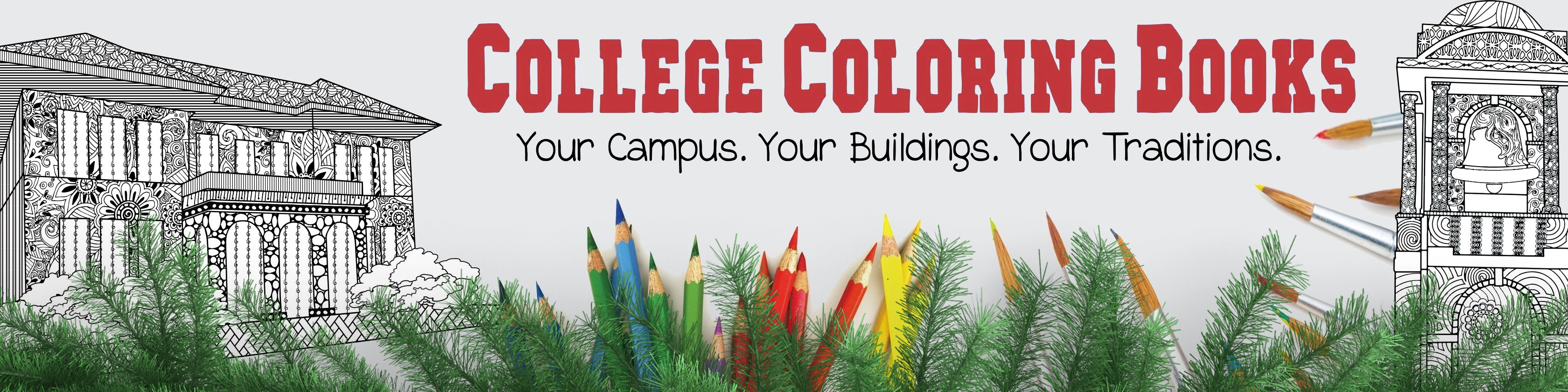 College Coloring Books Christmas Holiday Celebration